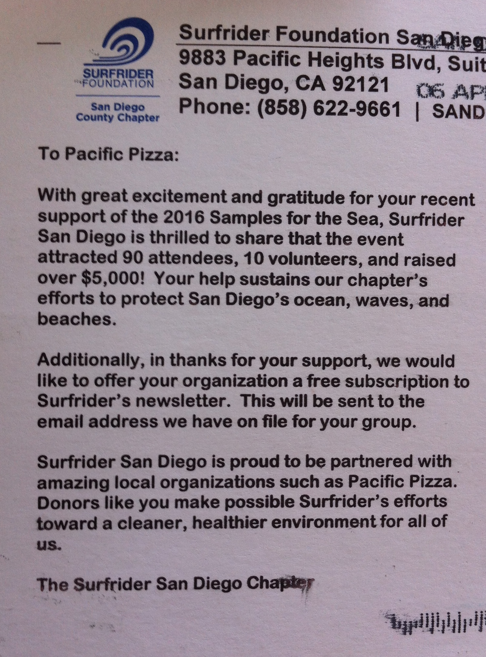 Thanks to the Surfrider Foundation for this great note!