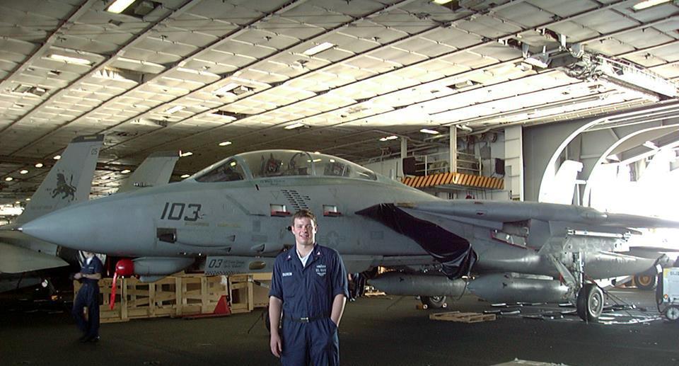 Sean on USS Carl Vinson