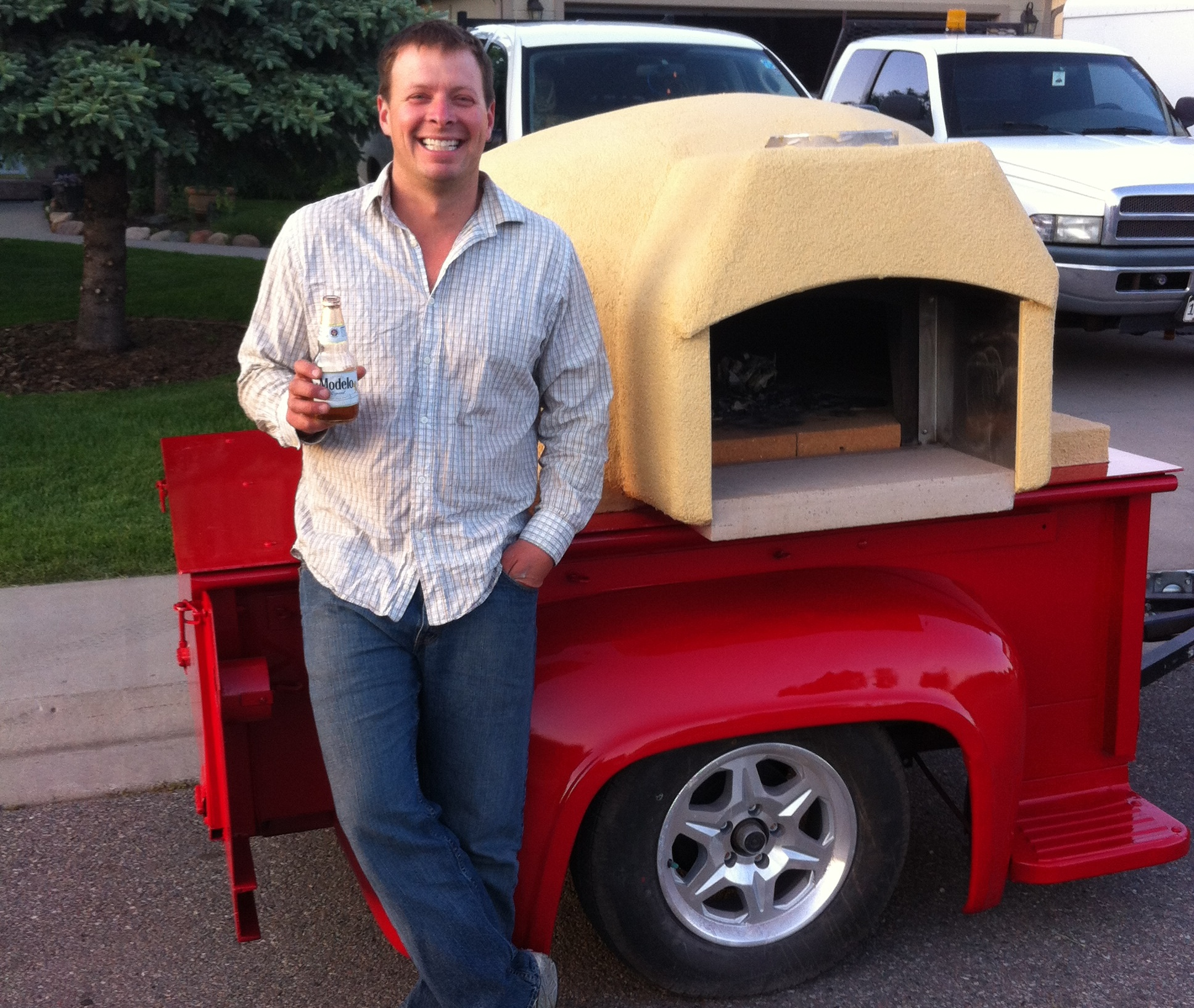 Pizza Trailer Done, first beer